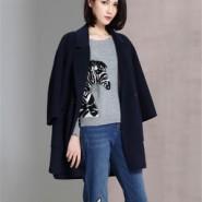供应双面呢羊绒大衣女装折扣店免费加盟就到广州明浩