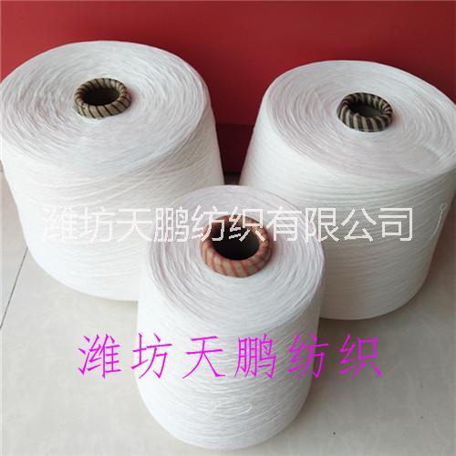 大化细旦涤纶纱3支6支10支纯涤纱环锭纺