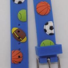 供应新款14耳位图案环保PVC软胶手表带 滴胶表带 卡通手表带 PVC手表带