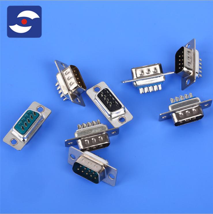 实力工厂供应焊线式D-Sub插头 15Pdusb连接器公母插 焊线式D-Sub插头供货商