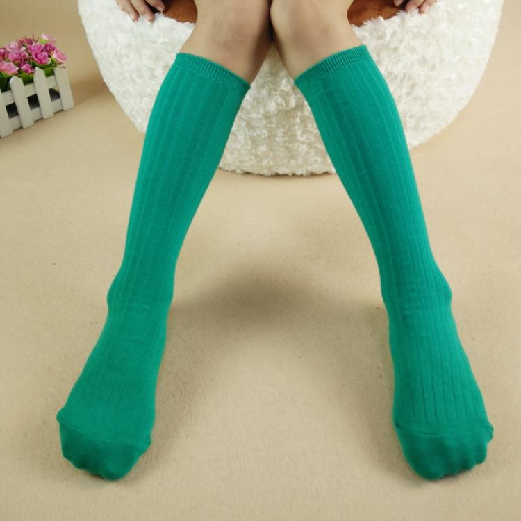 韩国精梳棉双针粗竖条纹中筒袜销售