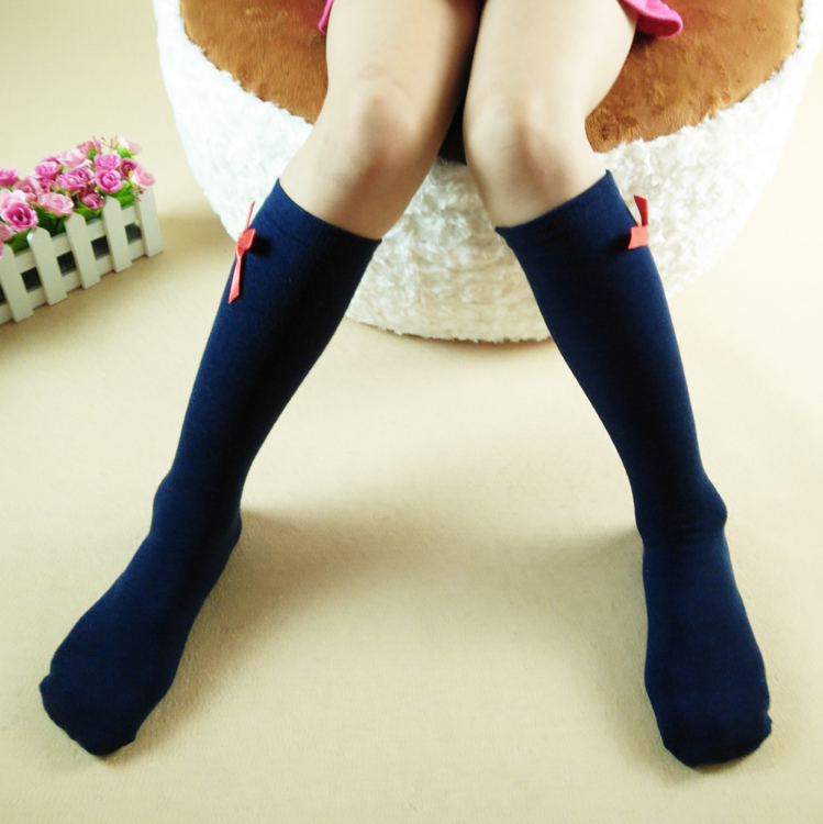 蓝咖全棉中高筒袜销售