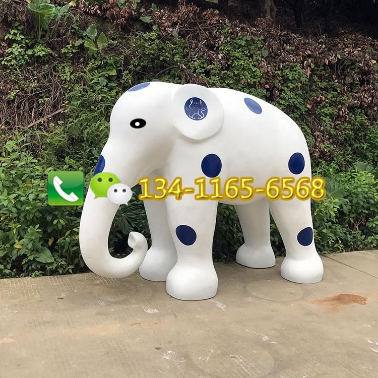 创意玻璃钢大象雕塑 户外大型玻璃钢卡通动物 玻璃钢仿真动物雕塑厂家直销
