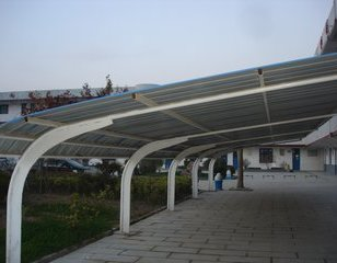 膜结构停车棚汽车停车棚汽车棚遮阳图片