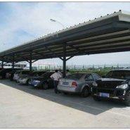 户外钢膜结构车棚停车棚汽车棚定做图片