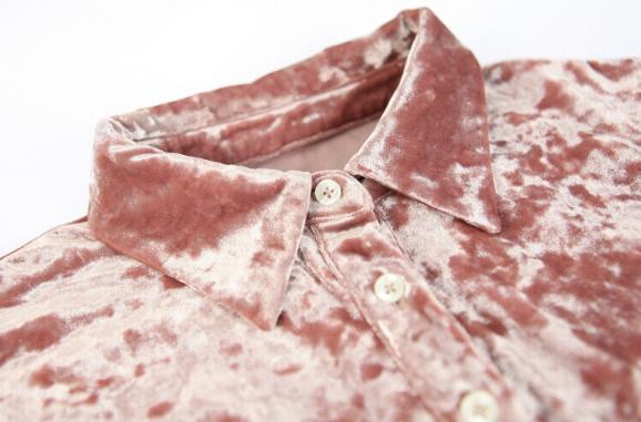休闲套装 时尚套装原创独立设计天鹅绒面料金丝绒布不倒绒 定制产品