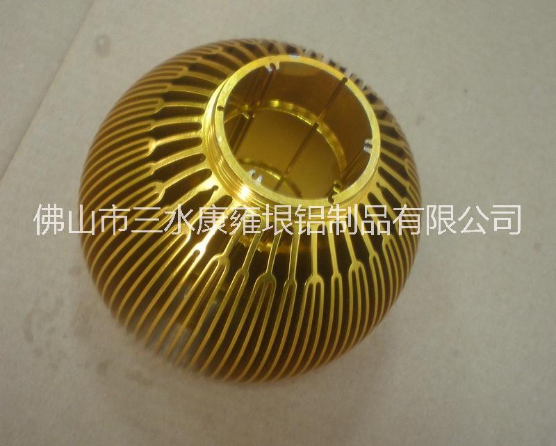供应热销太阳花铝型材散热器 铝型材挤压厂家 CNC数控深加工 LED灯杯