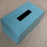 高档PU纸巾盒 餐巾抽纸皮盒图片