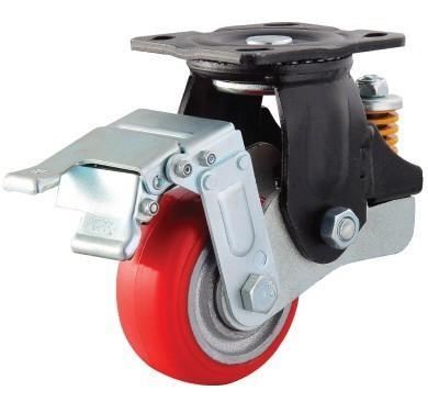 铁芯PU减震轮厂家直 铁芯减震轮 广东减震轮 直销弹簧轮