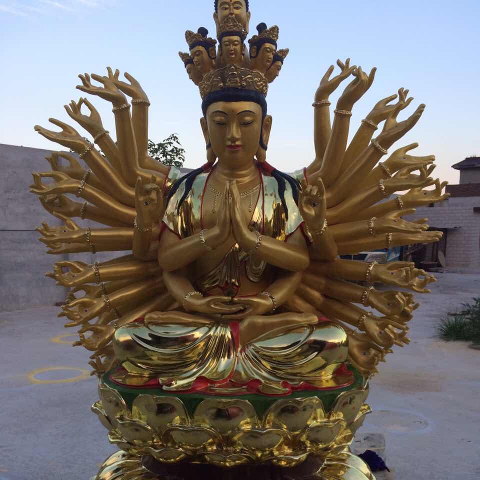 供应各种铜雕千手观音 铜雕极彩佛像 铜雕小佛像-卓艺雕塑
