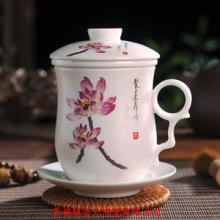 景德镇高档陶瓷茶杯带过滤网泡茶杯子生产厂家