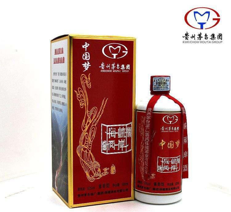 海峡两岸酒中国梦.茅台酒酱香酒.500ml/6瓶/1件.白酒. 酱香