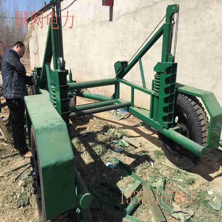电缆拖车 10吨六轮电缆放线车 电缆放线盘拖车厂家直销