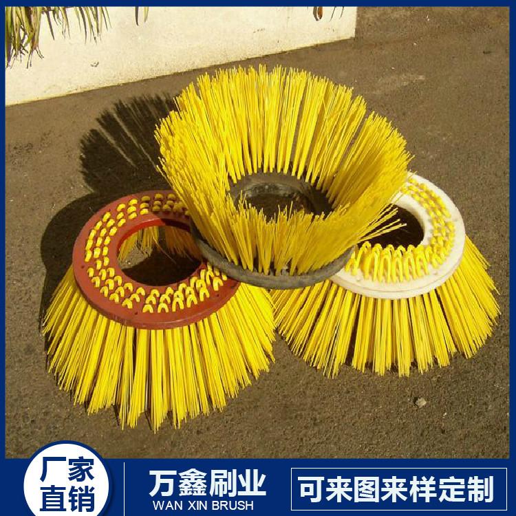 环卫刷工业毛刷|条刷钢丝毛刷辊|扫雪刷|环卫刷|圆盘刷|洗地机_万鑫毛刷厂