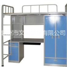 定做双层学生床 学生公寓床供应学生宿舍家具工程板式家具图片