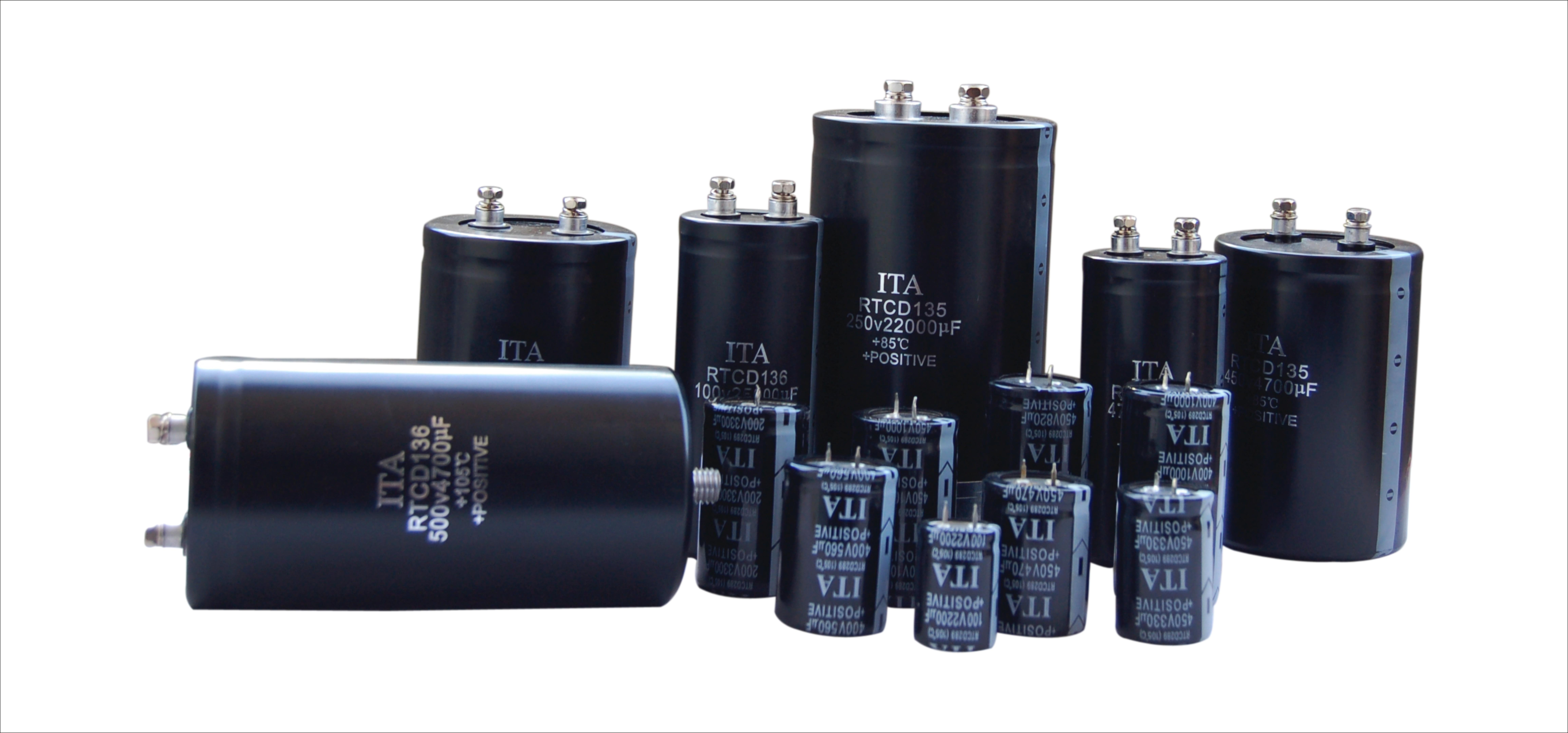 铝电解电容-电解电容-螺栓电容-牛角电解电容-螺栓电容-电解电容生产厂家-日田电容器