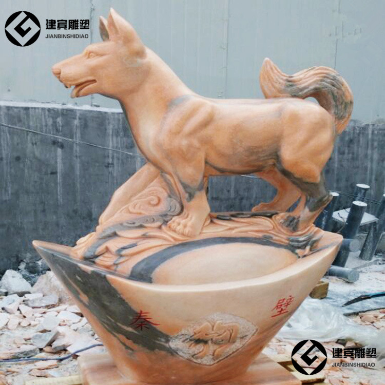 石雕狗,大理石狗,生肖狗,石雕狗图片