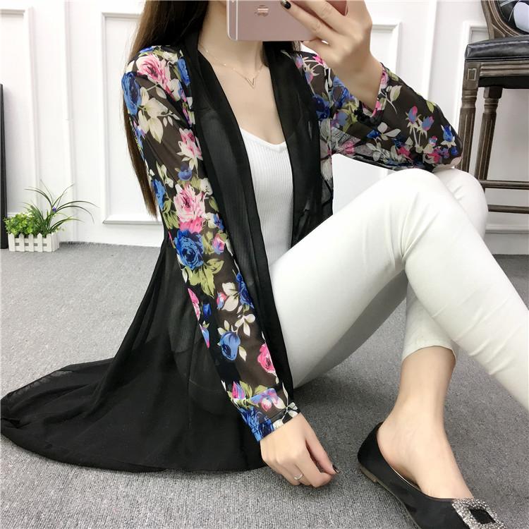 新款韩版夏季薄款长款网纱防晒衣