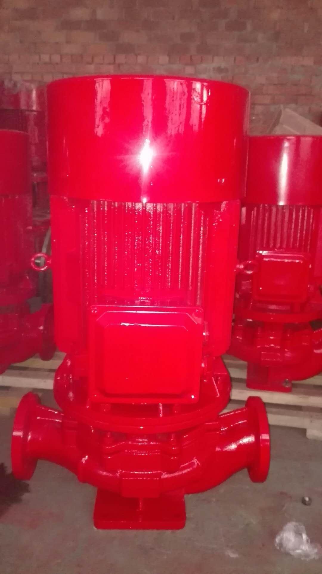 消防喷淋泵 喷淋泵型号 消防泵厂家 XBD7.6/18-L(W)恒压切线泵流量  扬程=74米 流量=每秒18升