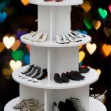 木质圆形中岛柜 展示柜 货架化妆品童鞋柜 包包母婴图书架 礼品红酒柜