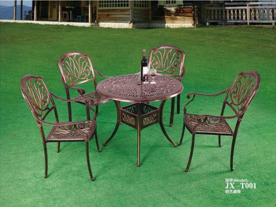 伊丽莎白圆台桌椅  户外旧家具生产厂家  户外铸铝桌椅定做