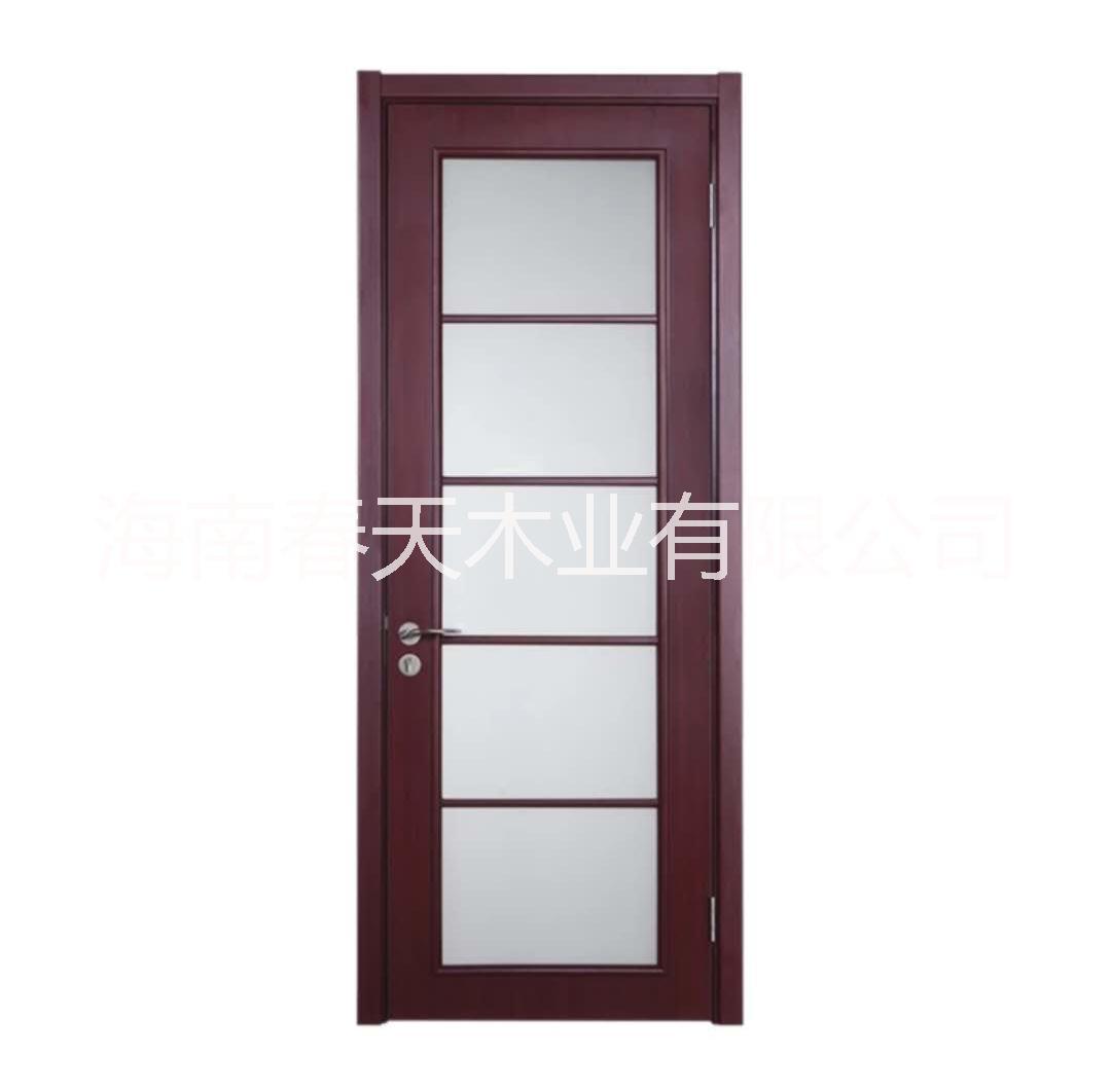 春天木业 时尚家居木门 厂家定制 带玻璃木门   时尚现代带玻璃木门
