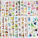 卡通不干胶可爱儿童幼儿园奖励贴平面好撕重复粘性贴纸