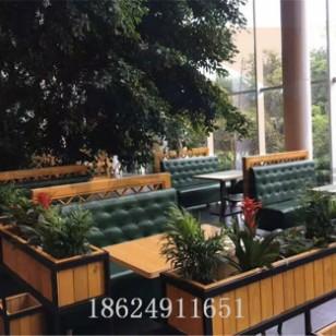 定制西餐咖啡厅卡座沙发奶茶甜沙发图片