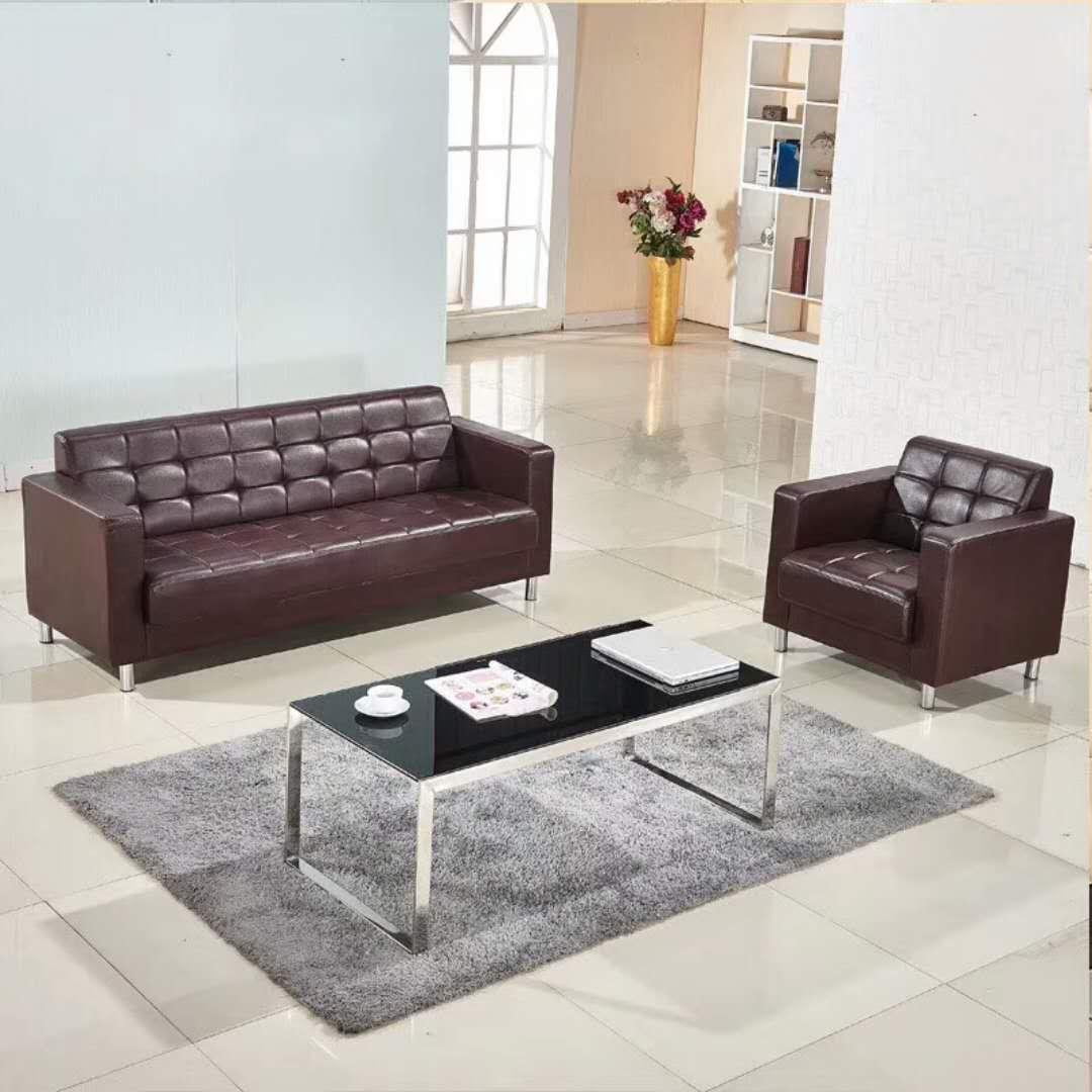 办公沙发茶几组合 会客现代简约商务老板办公室公司小型接待