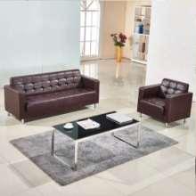 办公沙发茶几组合 会客现代简约商务老板办公室公司小型接待批发