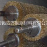 不锈钢丝毛刷辊  铜丝刷 不锈钢毛刷辊 镀铜丝刷辊