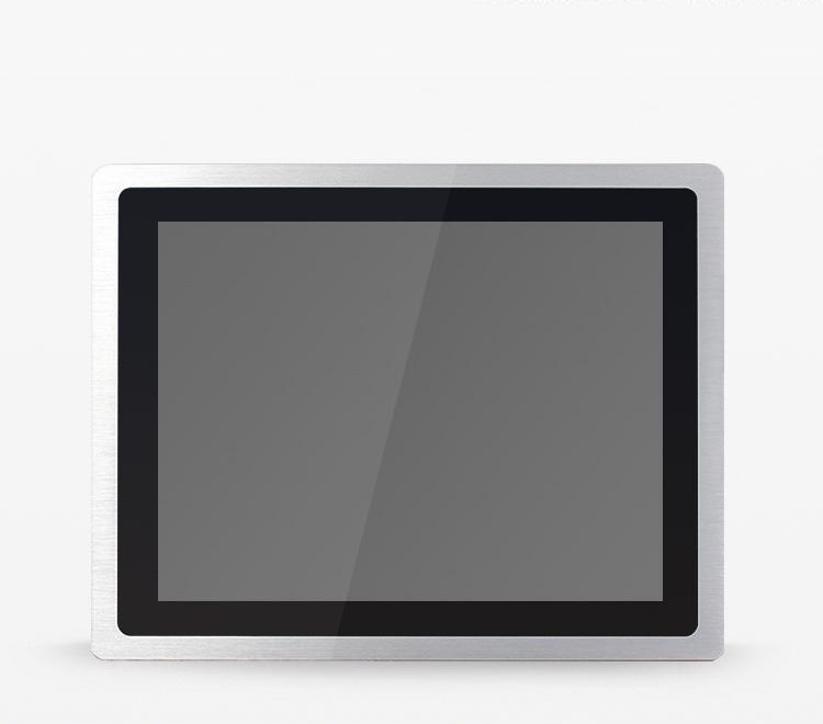 10/12/15/17/19/21.5寸铝合金超薄显示器 铝合金超薄嵌入式防尘防水工业液晶显示屏