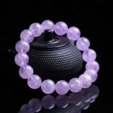 郑州五皇一后珠宝 天然水晶紫水晶手链女款 单圈紫水晶手串送女友