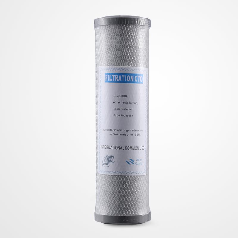10寸平压碳棒CTO 块状网碳 净水器滤芯10寸压缩碳