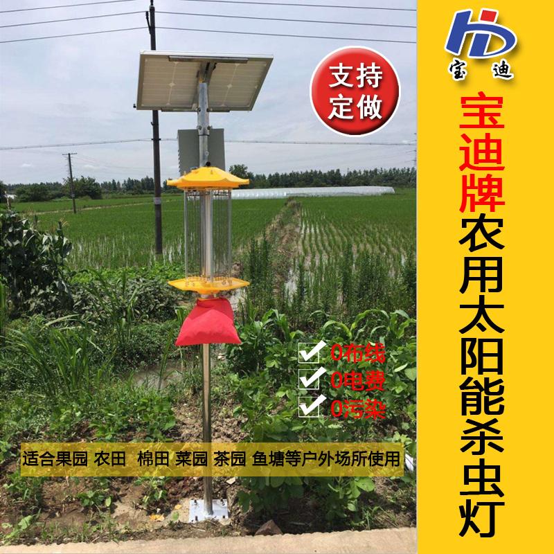 宝迪太阳能杀虫灯 频振式杀虫灯 吸入式杀虫灯 粘虫板生产厂家