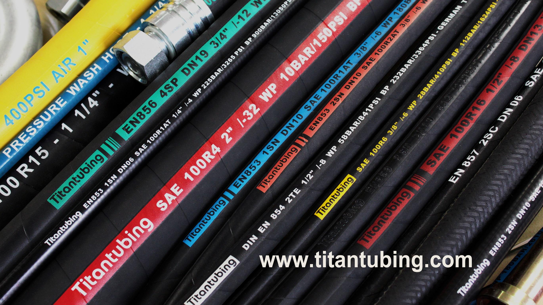 EN 854/SAE100 R6/1层棉线编织液压胶管/橡胶管/高压油管液压软管  耐高温橡胶管