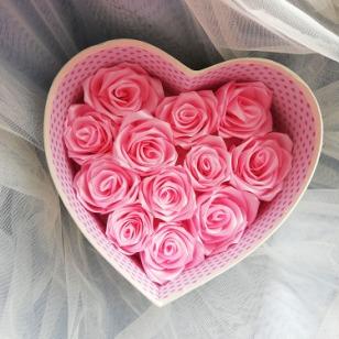 手工玫瑰花伴手礼丝带玫瑰花头饰头花diy