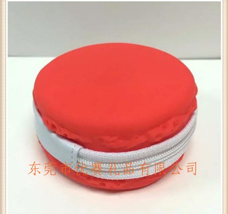 3D马卡龙硅胶零钱包糖果创意硬币包 果冻拉链口收纳饰品包