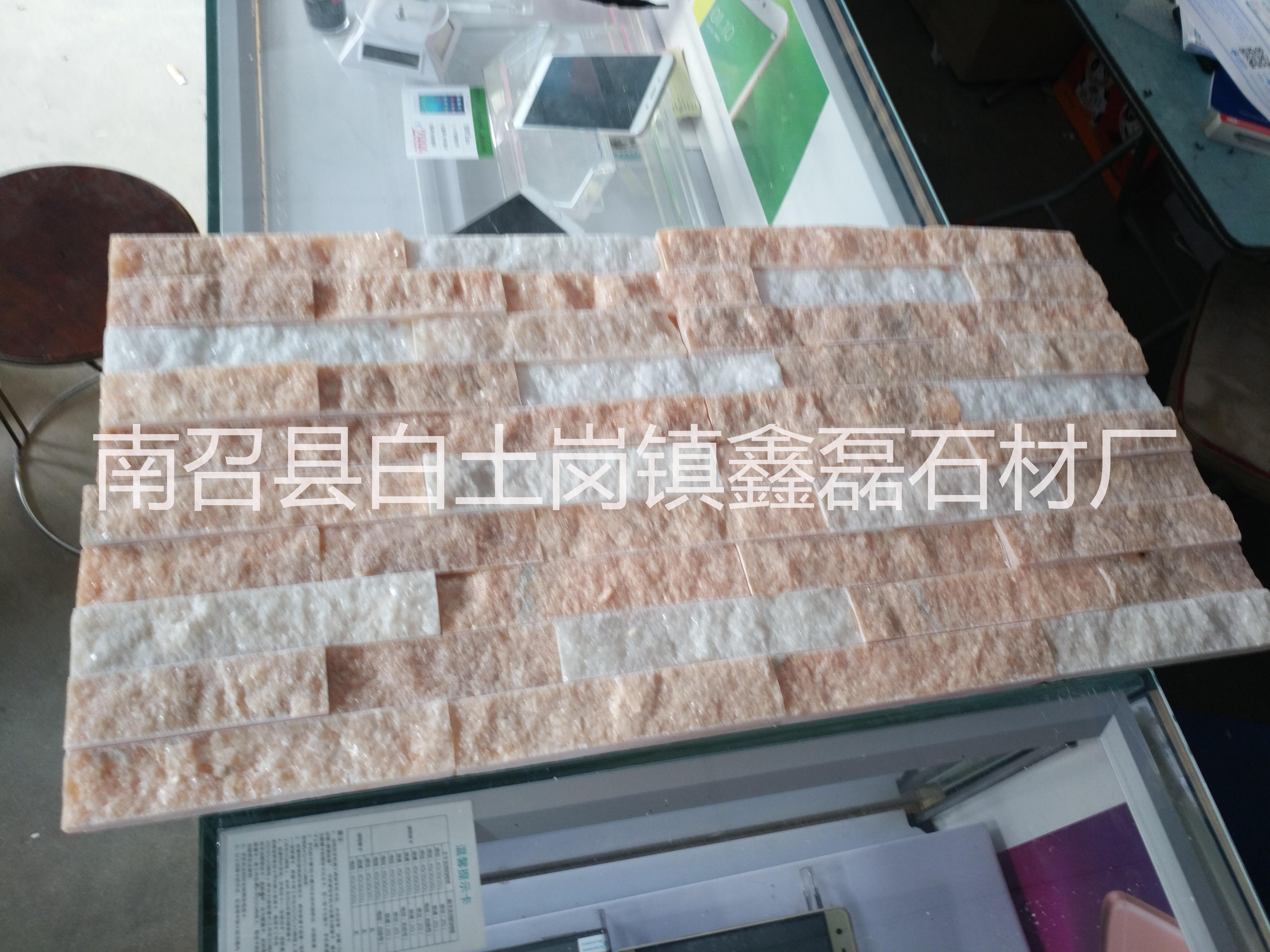 河南红加白仿古条石文化砖水幕墙沙发背景墙欧式文化砖外墙砖