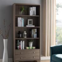 家用书柜 刨花板家用展示柜 环保书柜171977 灰褐色