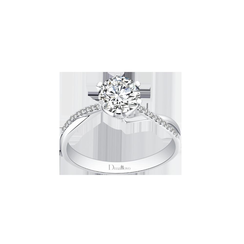 合肥玛丽莱钻戒Crown系列致美白18K金50分H色结婚钻戒