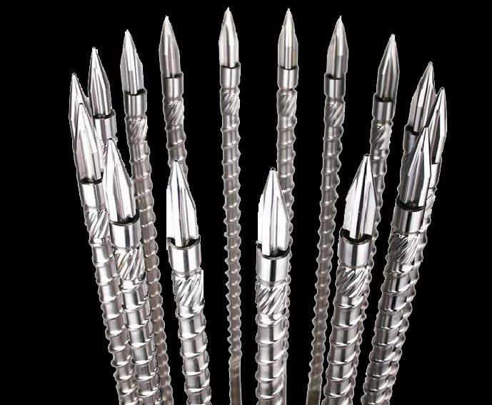 注塑机螺杆双合金螺杆-双合金螺杆螺杆加工-河源星企达螺杆专业