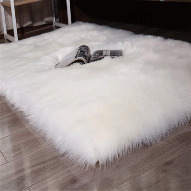 人造毛绒仿羊毛地毯垫100%腈纶 飘窗垫