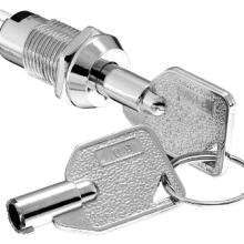 多功能,高寿命 ,安全防护型,两档锁定式,12mm管状PC端钥匙电源锁图片