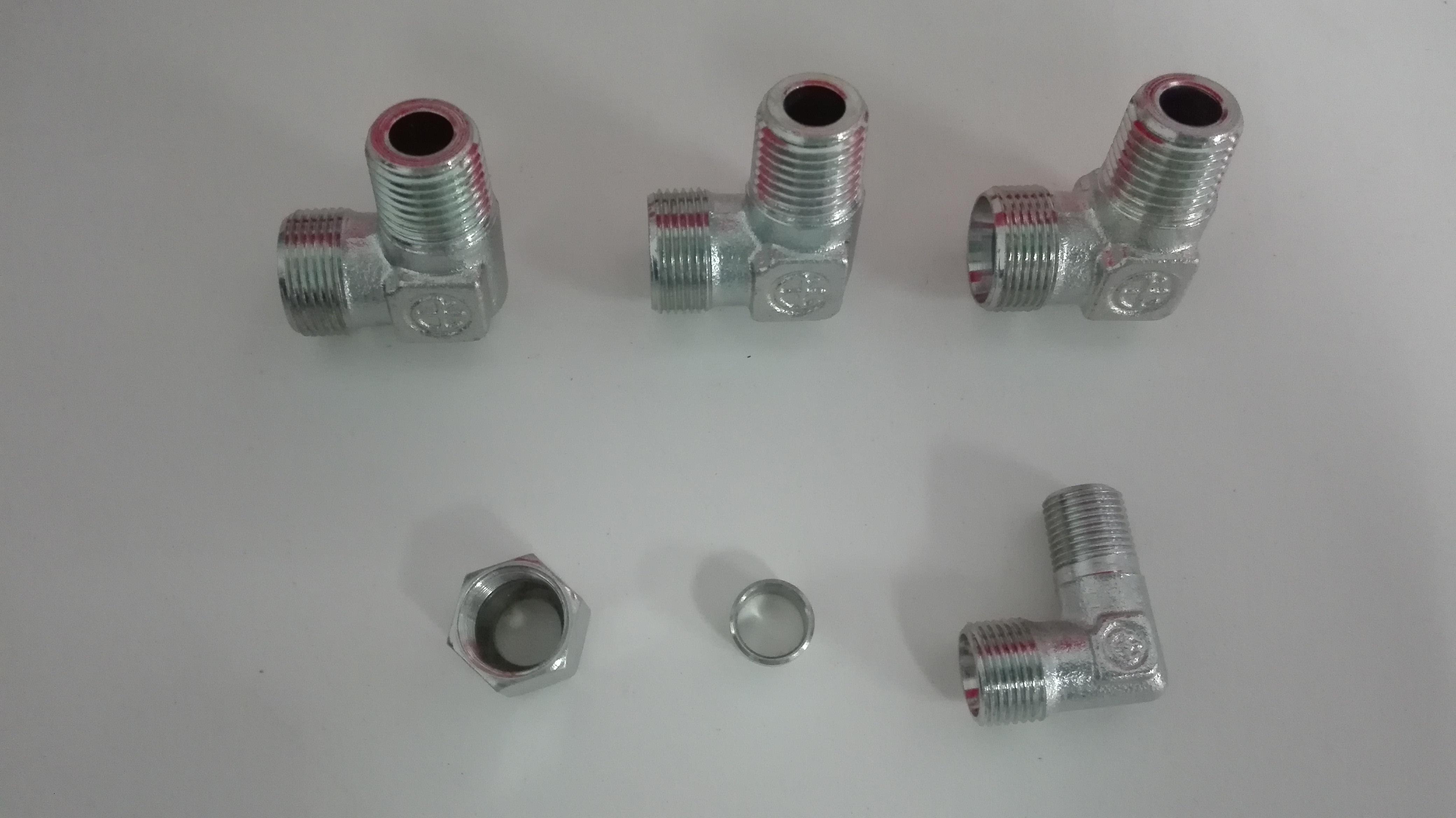 雷斯特利 TN94 终端直角接头 锥螺纹系列 液压管路连接件卡套式接头
