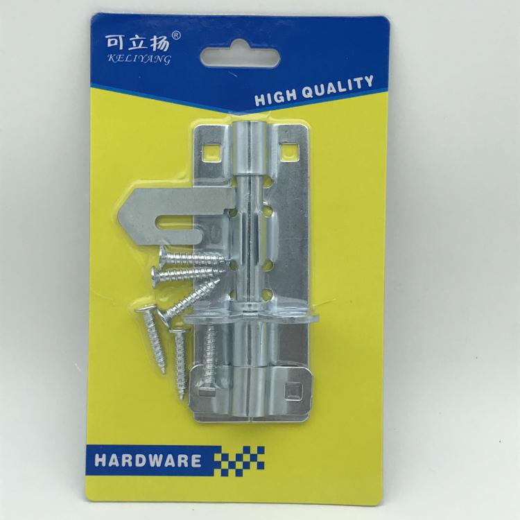 吸塑包装镀锌重型锁扣插销5英寸带螺丝