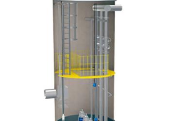 玻璃钢一体化排水泵站图片
