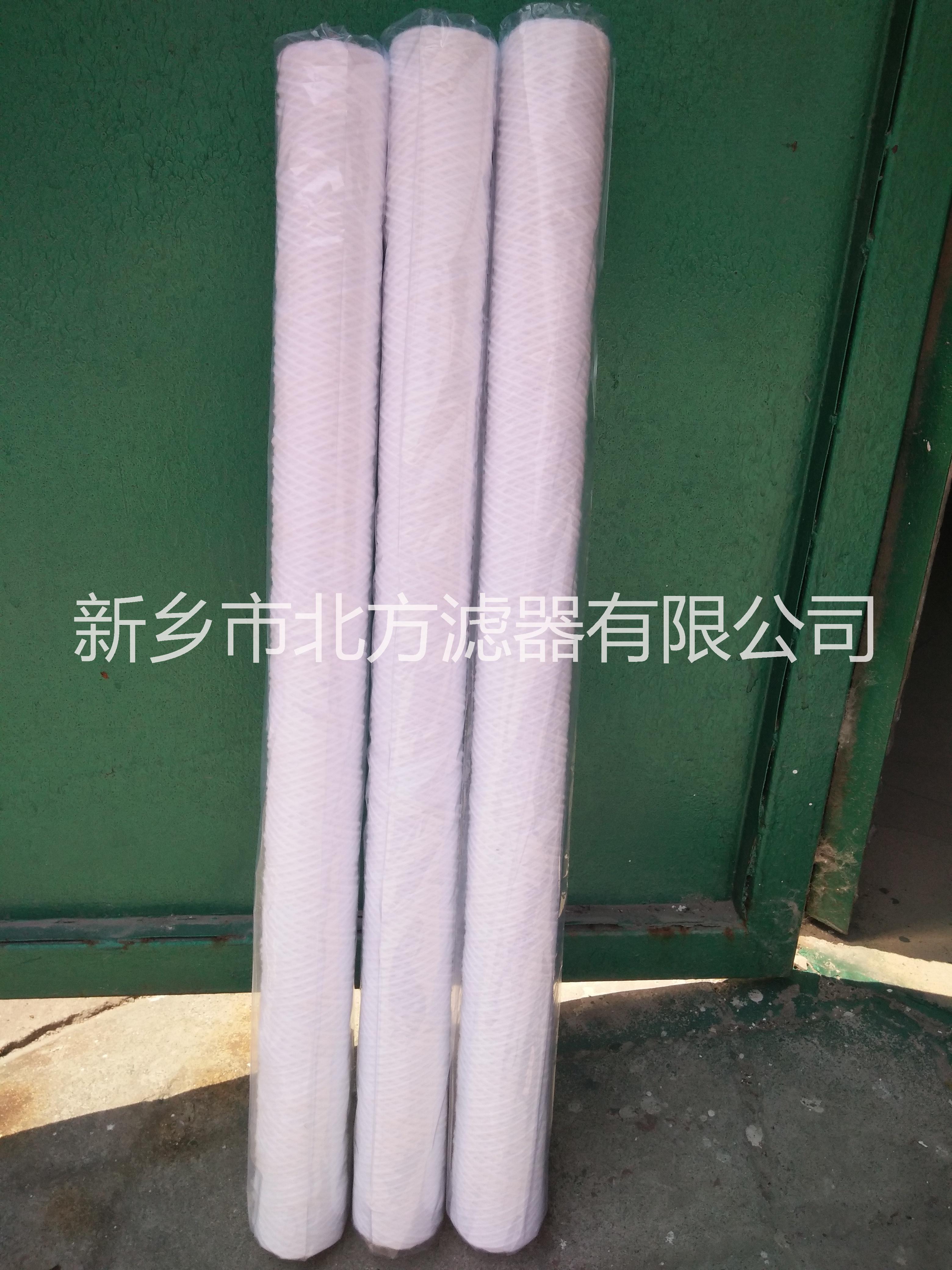 脱脂棉线绕滤芯 不锈钢骨架线绕滤   厂家直销线绕滤芯