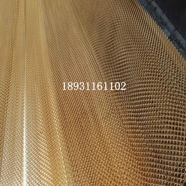 金属隔断装饰网帘生产厂家 古铜色金属网帘 勾花装饰网图片