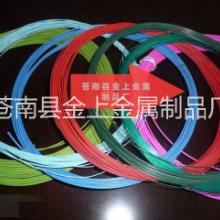 双线圈线材0.8mmpet包胶钢丝 单线圈线材,回形针线材,金色包胶线材 环保尼龙包塑双线圈线材0.8mm